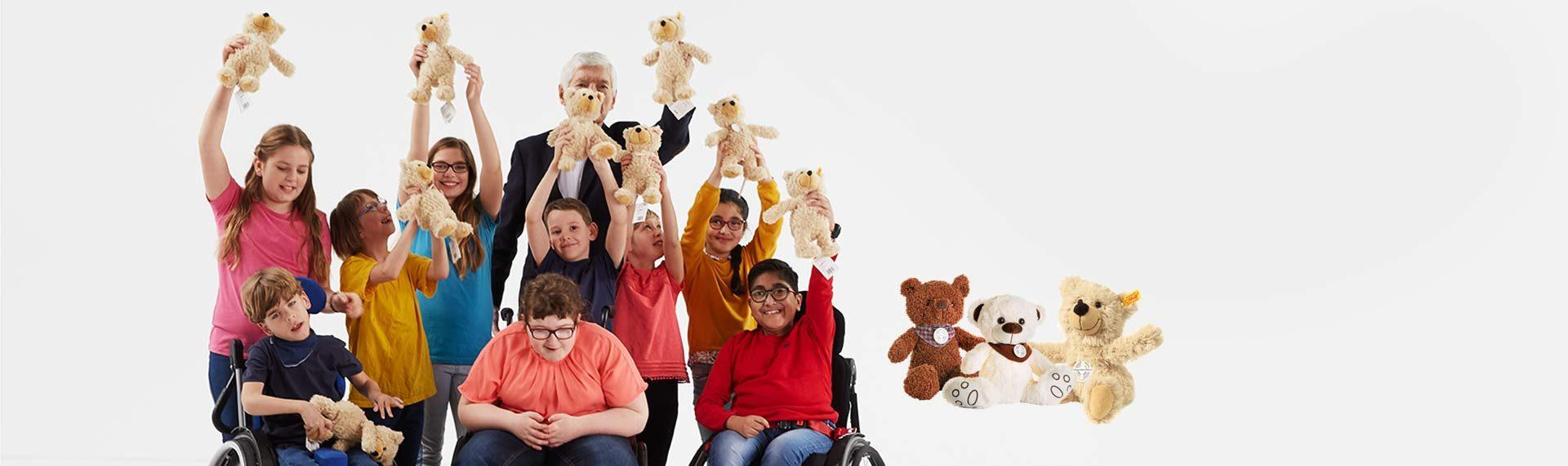 TEDDY kaufen und dabei Gutes tun! Der Verkaufserlös vom Plüschbär TEDDY geht zu 100 Prozent an die Andreas-Gärtner-Stiftung - Hilfe für Menschen mit geistiger Behinderung. jetzt TEDDY kaufen